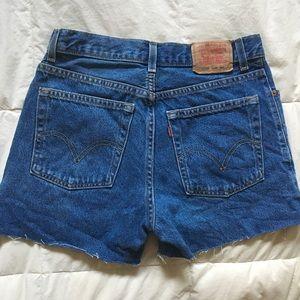 Vintage Levi's high waist easy fit cutoffs